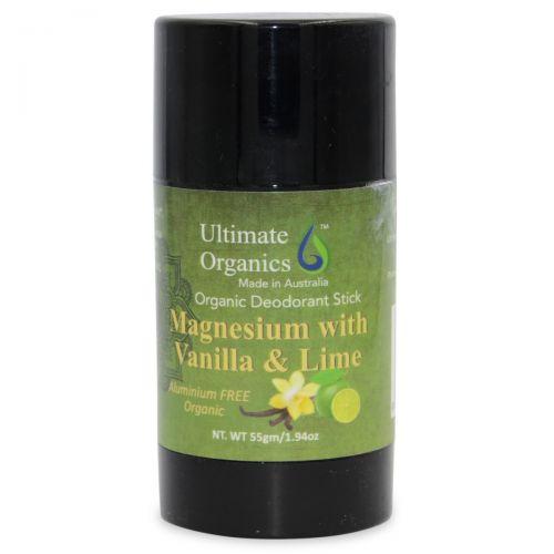 Organic Deodorant Stick 55g - Vanilla & Lime