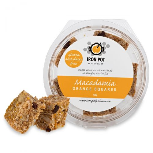 Macadamia Orange Squares 120g