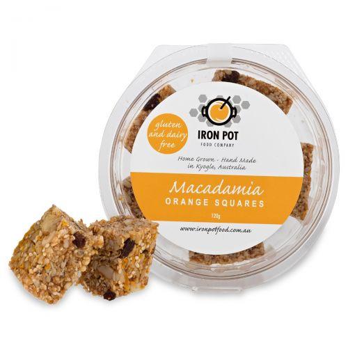 Macadamia Orange Squares 120g