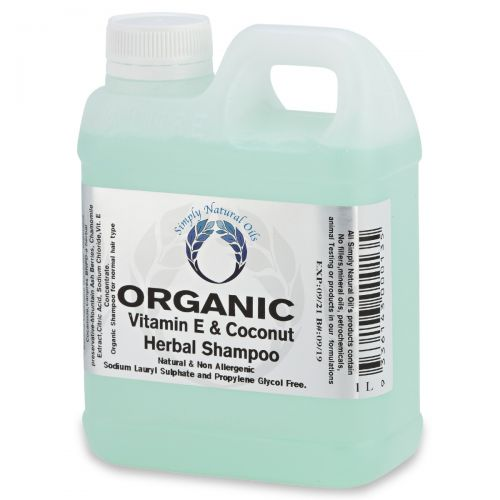 Organic Vitamin E & Coconut Herbal Shampoo 1 Litre