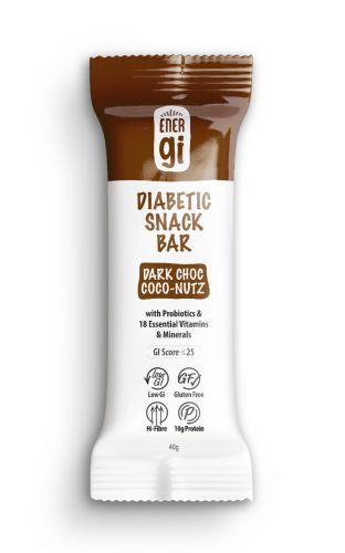 ENERgi Diabetic Snack Bar Dark Choc Coco-Nutz 40g x 12