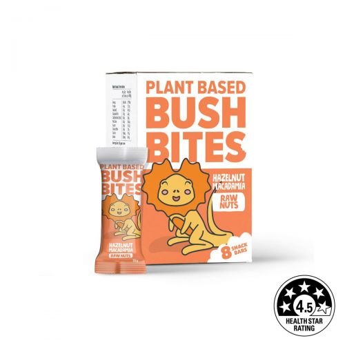 Bush Bites Hazelnut Macadamia Nut Bars (8 x 25g)