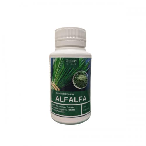 Organic Alfalfa Caps 100s