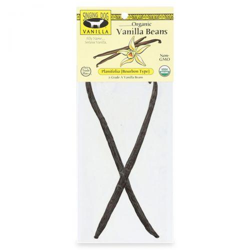 Organic Vanilla Beans - Planifolia 2 Pack