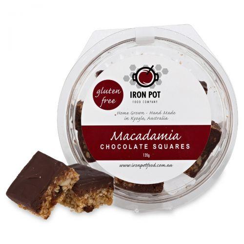 Macadamia Chocolate Squares 120g